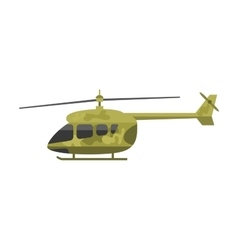 Military helicopter air transportation vector image