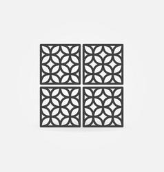 Modern ceramic tiles concept line icon vector