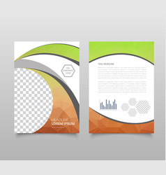modern triangle presentation template business vector image