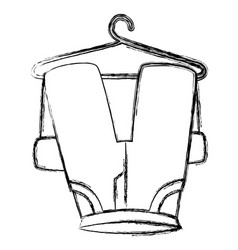 Pants drying on wire vector