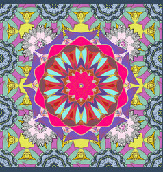 Pattern on blue violet and neutral colors vector