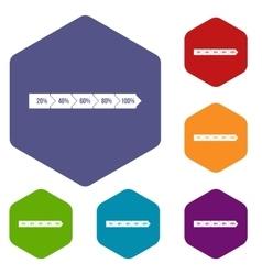 Percentage arrow infographic icons set vector image