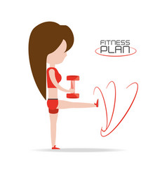 person do exercise to healthy lifestyle vector image