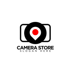 Photo studio logo design template vector