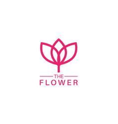pink flower logo design template vector image