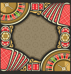 poster for casino vector image