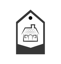 Real estate house in tag vector