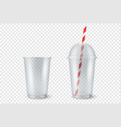 Realistic 3d empty clear plastic opened vector