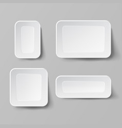 realistic food container set empty plastic vector image