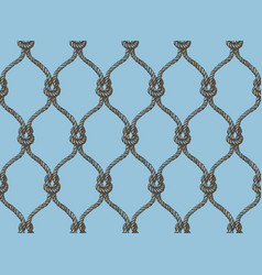 469181decb1d2 Rope seamless tied fishnet pattern vector ...