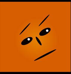 Serious face vector