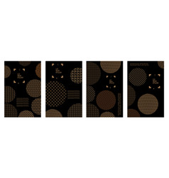 set of covers with circles and different vector image