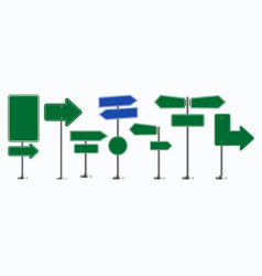 set of road signs isolated for brochure vector image