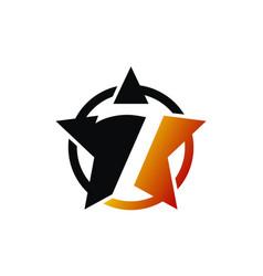 Seven star logo design template vector