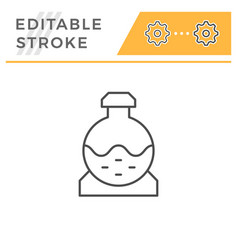 Sewerage tank line icon vector