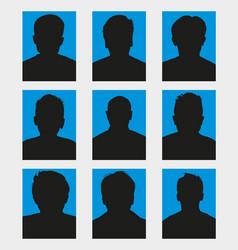 silhouettes avatar set vector image