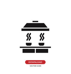 Smoke detector icon vector