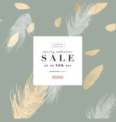trendy gold textured background and hand drawn vector image