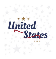 Usa lettering label badge flat vector