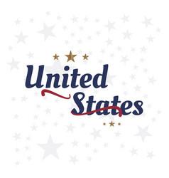 usa lettering label badge flat vector image