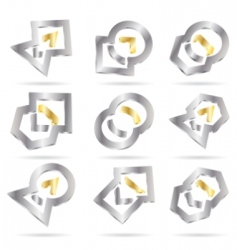 vector abstract icon vector image