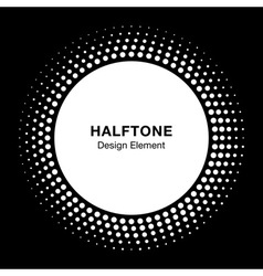 White Halftone Logo Design Element vector