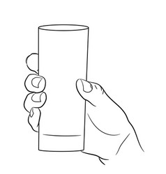 woman hand holding an empty glass on white vector image