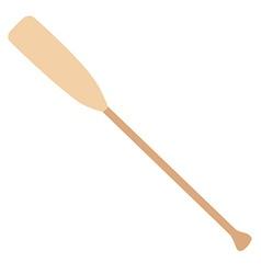 Wooden oar vector image