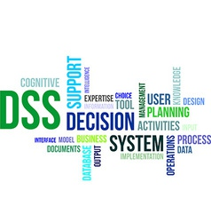 word cloud dss vector image