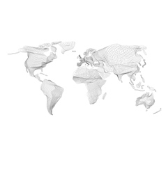 World map abstract vintage computer graphic vector