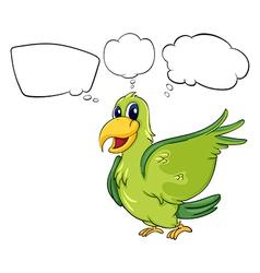 A green bird vector image