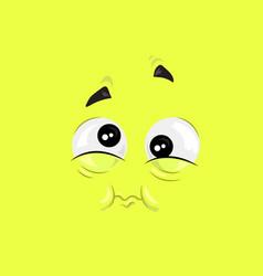 Feeling of nausea face vector