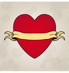Heart tattoo Place to insert your text vector image vector image