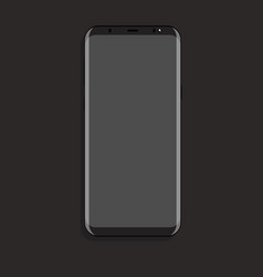 mock up smartphone with gray screen flat vector image vector image