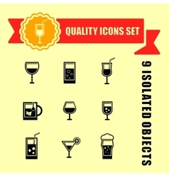 quality glasses icon set vector image vector image