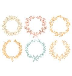 Set of winter wreaths vector image vector image