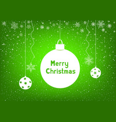 text merry christmas with snowflakes vector image vector image