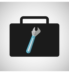 tool box spanner construction icon design vector image vector image