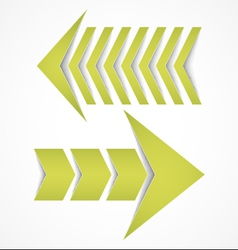 Two arrows concepts vector image