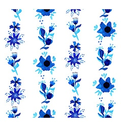 Watercolor floral seamless pattern background vector image vector image