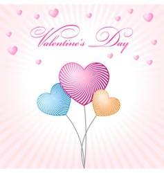 abstract glamour heart valentine balloons vector image