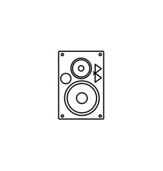 bluetooth music speaker icon vector image