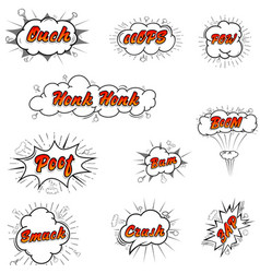 comic collection colored sound chat text effects vector image
