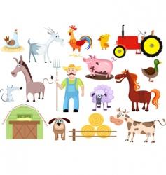 farm set vector image vector image