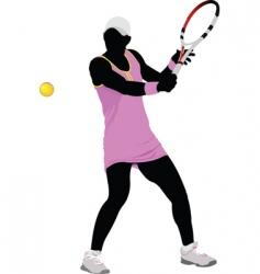 woman tennis vector image vector image