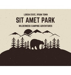 Camping brochure and label The concept of vector image vector image