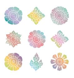 floral thai set vector image