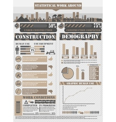 INFOGRAPHIC WORK BROWN vector image vector image