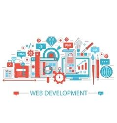 Modern Flat thin Line design Web development vector image vector image