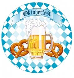 Oktoberfest celebration round design vector image vector image